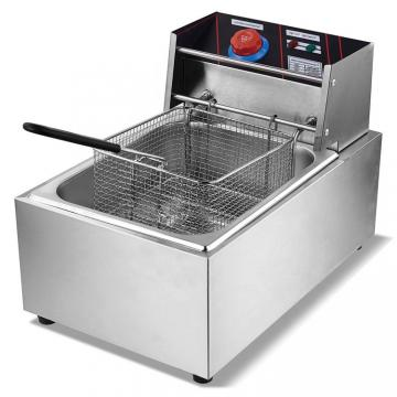 Stainless Steel Commercial Electric Potato Chips Fryer for Cooking Food Machine Equipment Processor Catering Freestanding Automatic Fryer